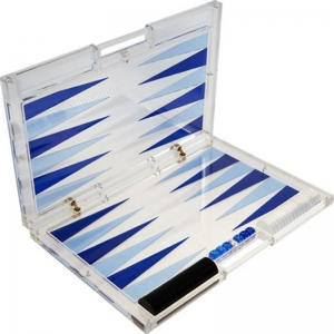 ensemble de backgammon acrylique