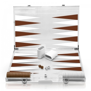 Ensemble de backgammon deluxe acrylique