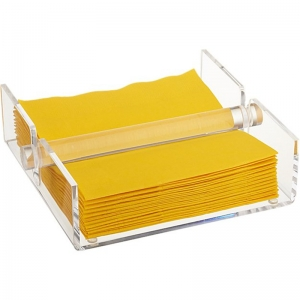 Porte-serviettes pmma transparent en usine, support de serviette en acrylique transparent